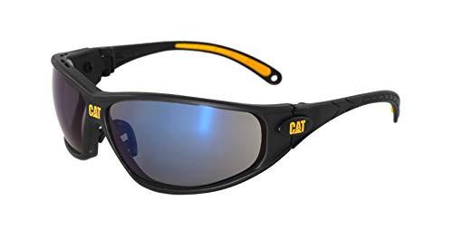 Caterpillar Tread Blue Mirror - Occhiali da sole protettivi con lenti antigraffio/antiappannanti, occhiali da ciclismo