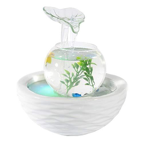 Aquariophilie/ Petit Aquarium Réservoir de poissons en céramique à la main créatif Aquarium Mode fontaine d