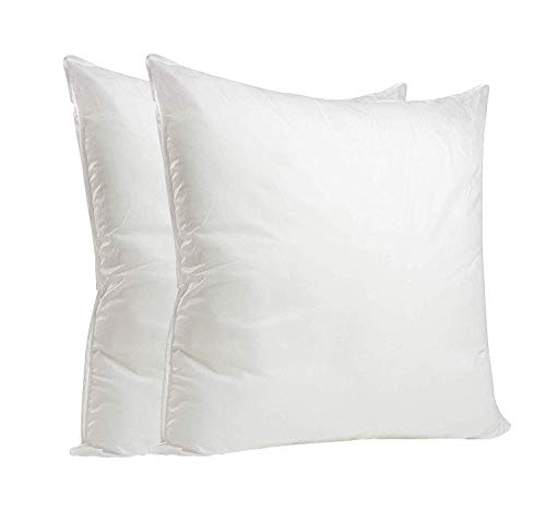 Nod Off Hollow Fiber Cushion Pads - Non Allergenic Pillow Pad Stuffer - Sofa and Bed Pillows - white (Pack of 2 (16' x 16'))