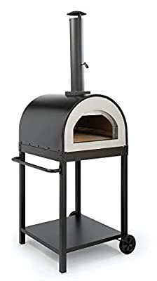 WPPO LLC Traditional 25? Wood fire Oven/Pizza Oven Includes Stand. Black