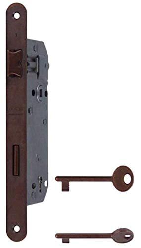 Serratura patent grande AGB con frontale da mm.22 entrata mm.50 finitura bronzata.La classica serratura da infilare per porte interne, prodotto originale