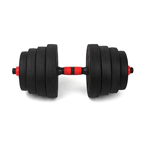 1 Pesas de Gimnasio en casa. Mancuerna Regulable 10KG / Fitness Musculación Juego Pesa Ajustable Pesas Gimnasio en Casa Hombre Mujer Principiantes Entrenamiento Fuerza