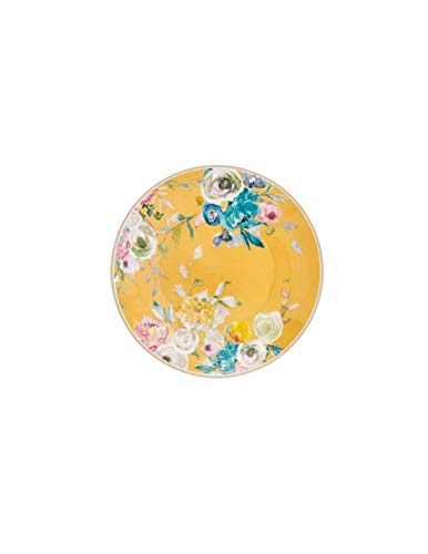 BRANDANI Plato de postre Paradise de colores surtidos, juego de 4 unidades New Bone China