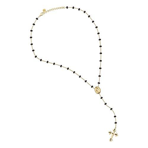 Morellato Collana da donna, Collezione Devotion, in acciaio, PVD oro giallo, cristalli - SARJ05