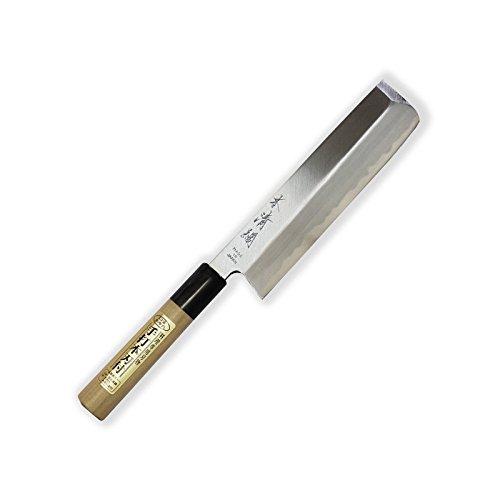 SXLH-033 Honkiyotsuna Usuba Messer - (Yasuki) Aogami super, blauer Papier-Stahl - Hoher Kohlenstoff Stahl & Magnolie Griff, Klinge 170 mm