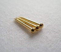 伊勢 - 宮忠 - 金釘 銅地本金鍍金 4分 10g