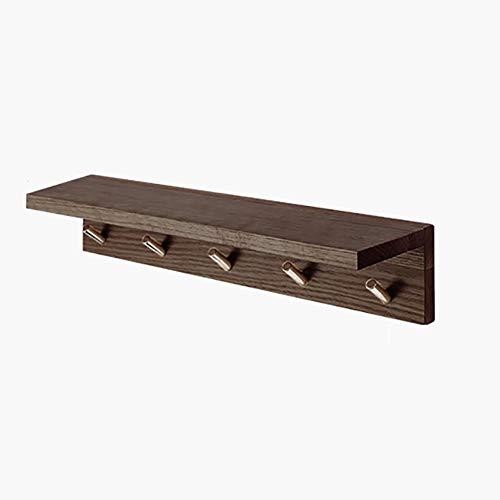 GLFZWJ Wandgemonteerde kapstok, eenvoudig en modieus houten plank, 80 cm plank bij binnenkomst, geschikt voor badkamer, keuken en entree