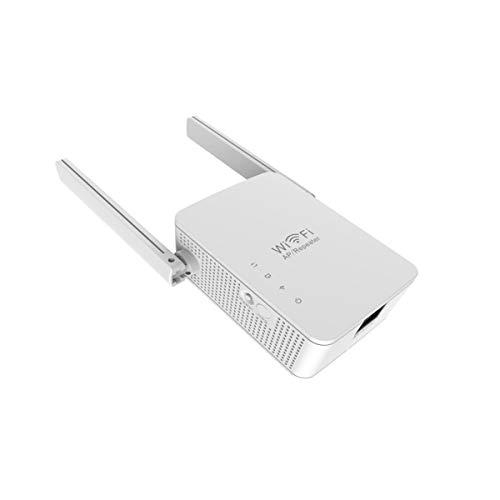Repetidor wifi blanco, amplificador wifi 300 Mbit/s 2,4 GHz, extensor wifi, adecuado para el hogar jardín y la oficina, enchufe europeo