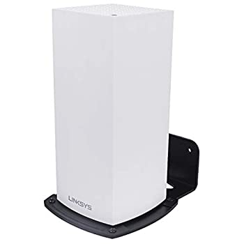HOLACA Wall Mount Holder for Linksys Velop WiFi 6 Mesh Router MX5 Velop Ax MX4200 Wall Mount Bracket Hanger Stand Compatible with WiFi 6 WiFi System for Whole Home WiFi Mesh Network  1 Pack