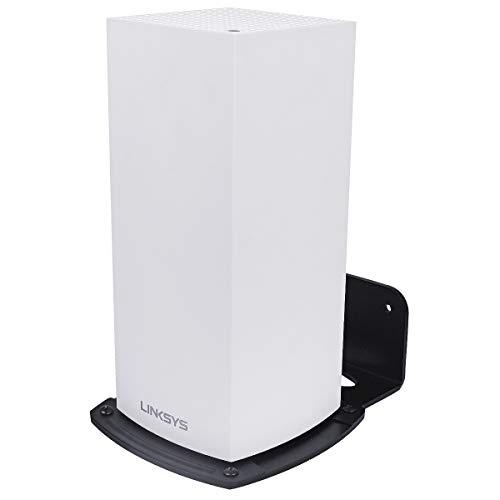 HOLACA Linksys Velop Wifi 6 Mesh Router Wandsteun Wandsteun Wandhouder WiFi-accessoires voor Linksys Velop Wifi 6 MX5 met Eenvoudige installatie en ruimtebesparing 2 stuks.