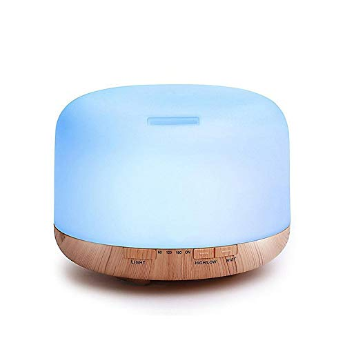 FFAN air treatment,Essential oil mist humidifier with adjustable mist mode, Less water auto shut-off and 7-color light changing for home and office
