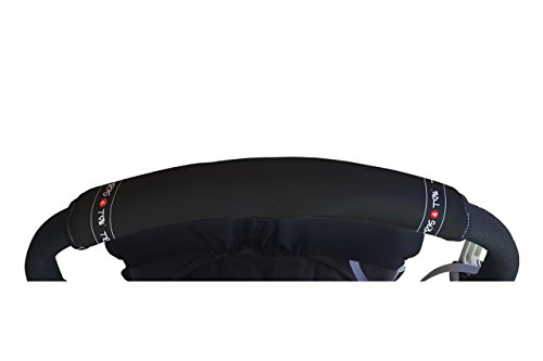 Tris&Ton Fundas empuñaduras horizontales Modelo Negra, empuñadura funda para silla de paseo cochecito carrito carro (Tris y Ton)