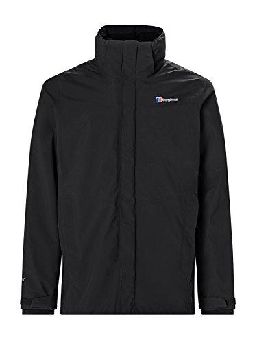 Berghaus Waterproof Hillwalker Men's Outdoor 3-in-1 Jacket available in Black/Black - Medium
