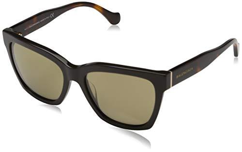 Balenciaga BA0098 48G-55-17-140 Balenciaga zonnebril Ba0098 48G-55-17-140 rechthoekig zonnebril 55, meerkleurig