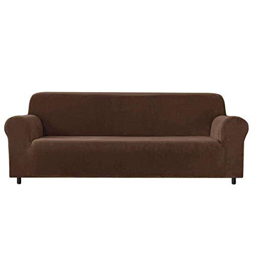 JBNJV High Stretch Sofa Schonbezug, 1 Stück rutschfeste weiche Couch Sofabezug für 2 Kissen Couch Möbelschutz mit elastischem Boden für Hunde Cat-Deep Coffee-2 Sitzer