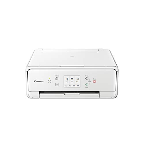 Canon PIXMA TS6251 Drucker Farbtintenstrahl Multifunktionsgerät DIN A4 (Fotodrucker, Scanner, Kopierer, Touchscreen, 4.800 x 1.200 dpi, USB, WLAN, 5 separate Tinten, Duplexdruck,, weiß
