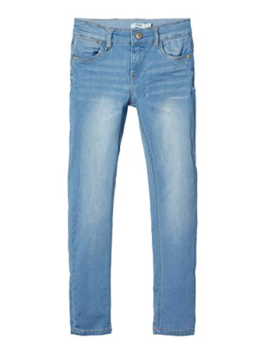 NAME IT Herren X-Slim Fit Jeans Powerstretch 158Light Blue Denim