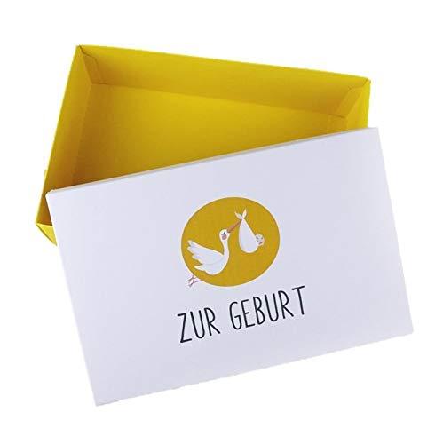 Geschenkbox Geburt Babyshower Geschenkschachtel 26.6 x 17.2 x 7.8 cm