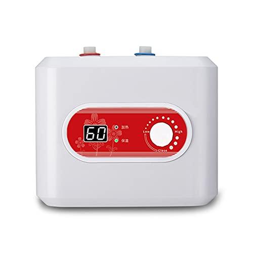 GaoYunQin 10L 1500W Mini Tanque eléctrico Calentador de Agua, 1000W Mini Calentador de Agua Ducha Calentador de Agua Caliente Sistema Debajo del Fregadero Montado para Cocina Familiar Grifo de Lavado