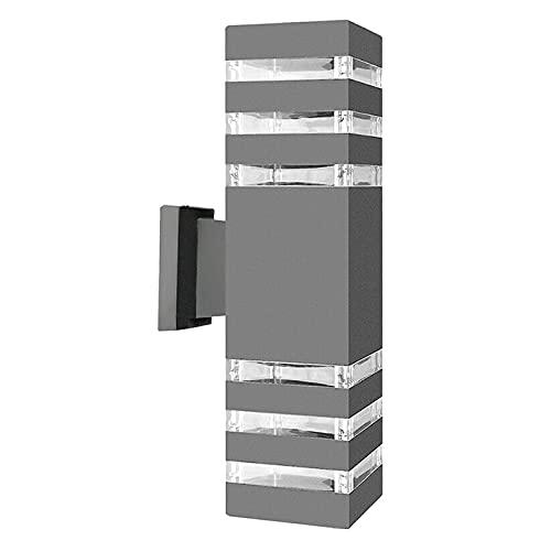 Amuzocity Aplique de Pared LED para Exteriores de Doble Cabezal, Lámpara de Jardín IP65