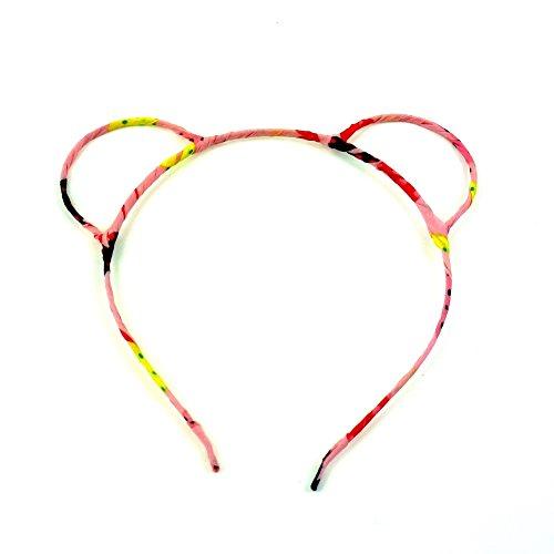 rougecaramel - Accessoires cheveux - Serre tête oreille d'ours - rose multicolore