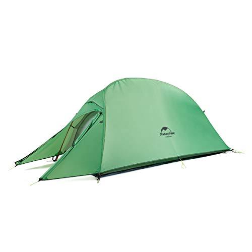 Naturehike Cloud-up Ultralight 1 person single tent 3 season camping tent (210T Green Upgrade)
