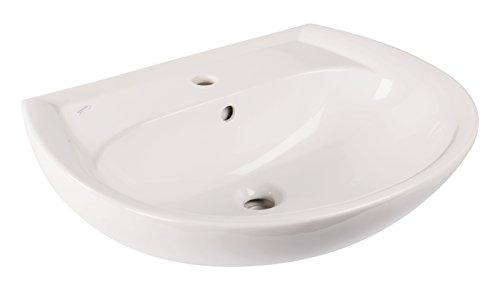 Keramag Waschtisch Renova Nr.1 Waschbecken, 223060000, Waschbecken mit Beckenrand & Ablagefläche, 60 x 49 cm, Weiß, 03811 9