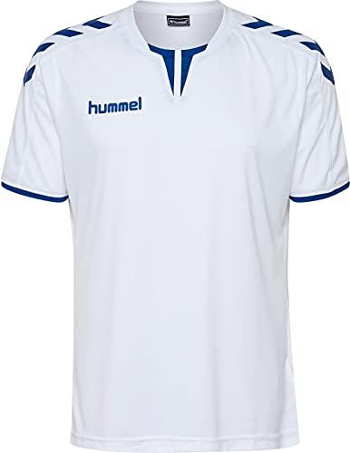 Hummel Herren Trikot Core SS Poly Jersey 003636 White/True Blue PR M