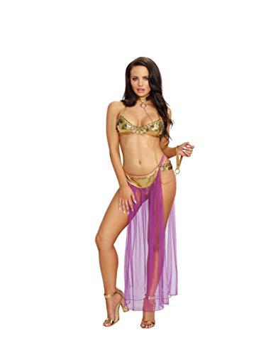 DreamGirl harén esclavo traje del harem atractivo del tamaño de 3 Pc Set 1-tamaño