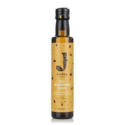 Jordan Original Bio Weißweinessig – 250 ml Naturessig aus reifen Trauben ohne Konservierungsstoffe / Zusätze