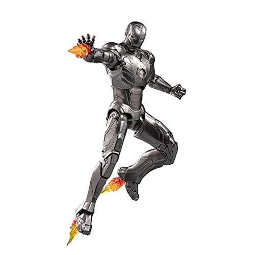 Xiao Yu Acción Iron Man MK2 Luminous Edition MK3 Luminous Edition Marvel Avengers Figura De Acción (Color : 18cm)