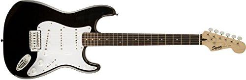 Fender Squier Bullet Strat con trémolo, negro, Palo De Rosa
