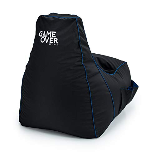 Game Over Soul Reaper Video Gaming Bean Bag Chair   Indoor Living Room   Side Pockets for...