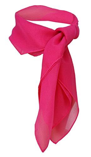 TigerTie Damen Chiffon Nickituch in pink einfarbig unicolor - Halstuch Größe 50 cm x 50 cm