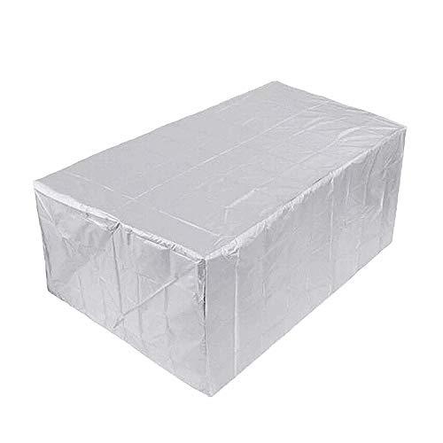 Cubierta Muebles, Jardín Funda, Funda Protectora Muebles, Resistente Agua decoloración, para Mobiliario Exterior Mesa - Gris-Plata 180x120x74cm