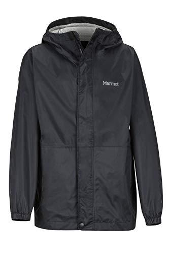 Marmot Jungen PreCip Hardshell Regenjacke, Winddicht, Wasserdicht, Atmungsaktiv, Black, XS