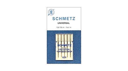 Schmetz - Agujas universales para máquina de coser (5 unidades, 130/705 H (60/8)