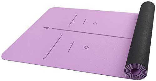 SAIYI Non-Slip Mat Workout, High Performance e Ultra Grip Dense Ammortizzazione, Premium 5mm di Spessore Materassino Ginnico, for Sostegno e stabilità nello Yoga Pilates di Ginnastica e Fitness
