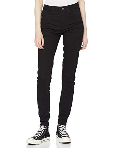 G-STAR RAW Damen Jeans 3301 Deconstructed High Waist Skinny, Schwarz (Rinsed 8970-082), 34W / 28L
