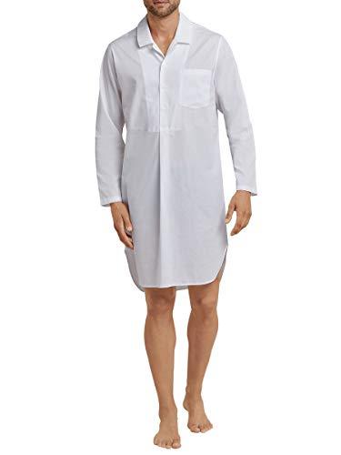 Seidensticker Herren Nachthemd 1/1 Einteiliger Schlafanzug, Weiß (Weiss 100), 58