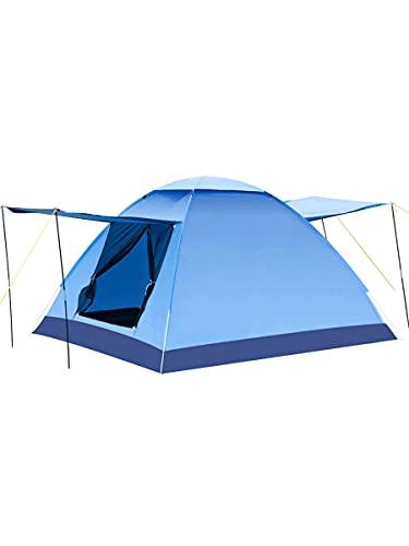 QSWL Camping Plegable al Aire Libre Carpa automática 3-4 Playa Playa Camping Simple Tienda de Apertura rápida (Color : Blue, Size : 210x210x135cm)