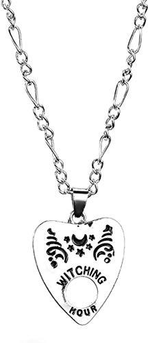 LLJHXZC Collar Vintage Mujeres Hombres Forma Gótica Placa Colgante Cadena Collar Joyería