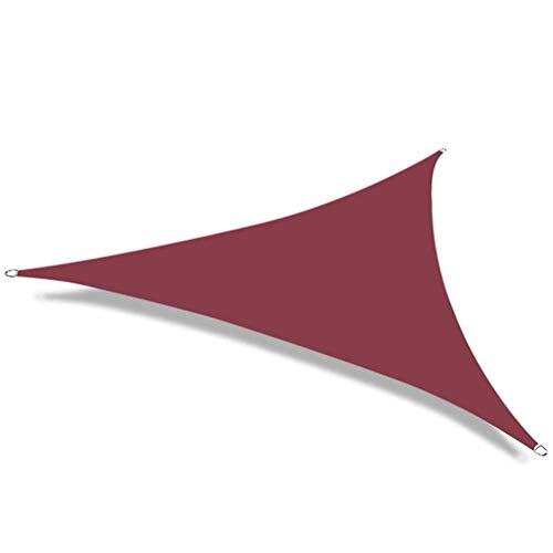 No logo Nevy - Luifel driehoekig Luifel Zonnescherm UV-bescherming weerbestendig zeil 8 maten en 3 kleuren voor tuin / balkon / terras 5x5x7.1m deep red
