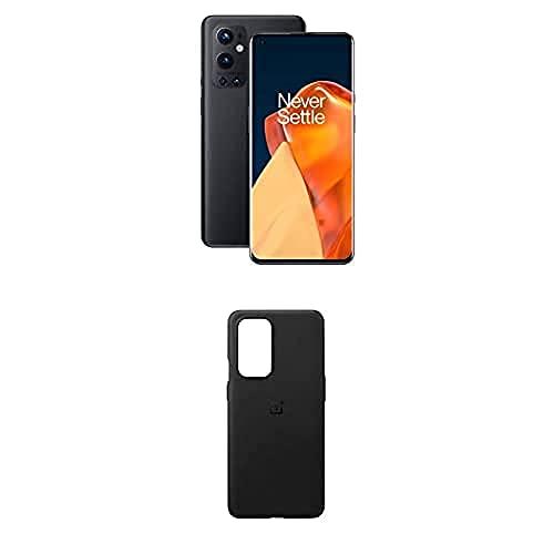 OnePlus 9 Pro 5G Smartphone con Fotocamera Hasselblad, 12 GB RAM + 256 GB, Nero (Stellar Black) + Pro Sandstone Bumper Custodia, Nero [Esclusiva Amazon]