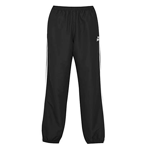 Lonsdale Hombre 2 Stripe Pantalones Deportivos De Chándal Negro/Carbón M