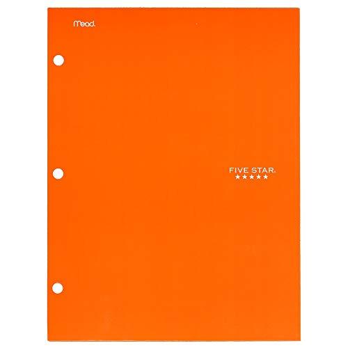 Five Star 4 Pocket Folder, 2 Pocket Folder Plus 2 Additional Pockets, Orange (72101)