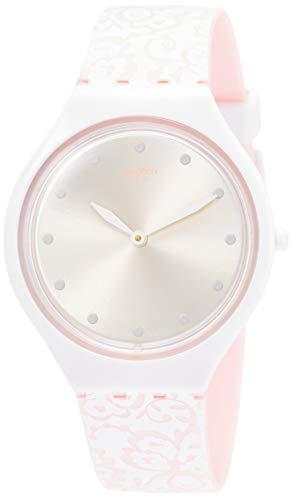 Swatch Reloj Analógico para Mujer de Cuarzo con Correa en Silicona SVOW102