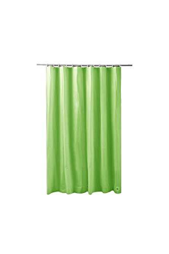 Duschvorhang 100prozent PEVA 180x200 cm Wannenvorhang Grün wasserdicht, wasserabweisend, leicht zu pflegen, Kunststoff
