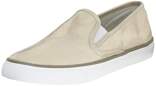 Sperry Top-Sider Seaside Metallic, Baskets Mode pour Femme Silver - Gris - Platine, 36