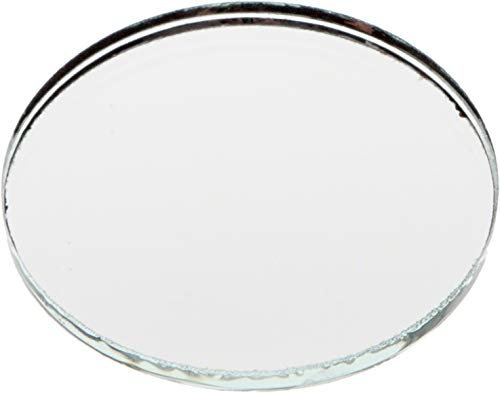 Plymor Round 3mm Non-Beveled Glass Mirror, 1.5 inch x 1.5 inch (Pack of 24)